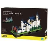 《 Nano Block迷你積木 》【 世界主題建築系列 】Deluxe 豪華夜光 - NB-009 新天鵝堡 5800pcs
