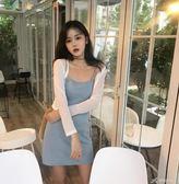 復古韓國chic風無袖仙女吊帶裙春裝新款女裝小性感氣質洋裝 七夕禮物中秋禮物