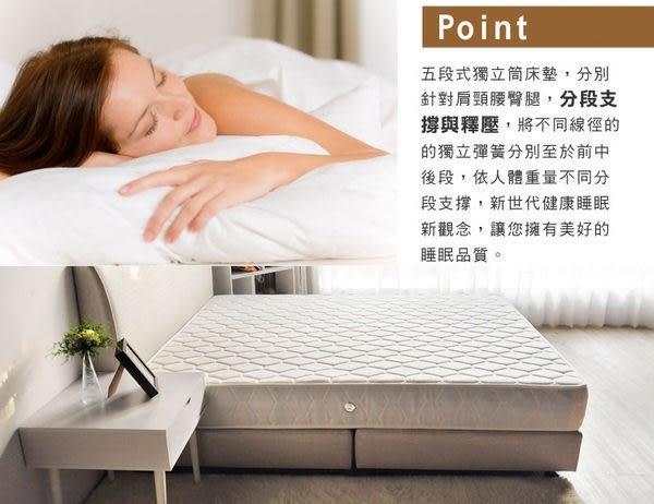 Alice艾麗絲舒眠五段式獨立筒床墊-6尺雙人加大(SMT/促銷6尺五段式獨立筒)【DD House】