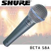 【非凡樂器】SHURE BETA-58A 動圈式麥克風 / 公司貨保固