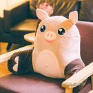 豬豬可愛汽車座椅腰枕辦公室抱枕女靠墊電腦椅子靠背墊護腰靠枕男MBS「時尚彩虹屋」