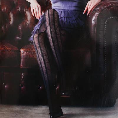 日本製elizabeth花紋網褲襪(共8款)