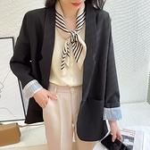 西裝外套春秋季新款韓版寬鬆英倫風法式炸街小西裝外套女小個子西服潮 雙12全館免運
