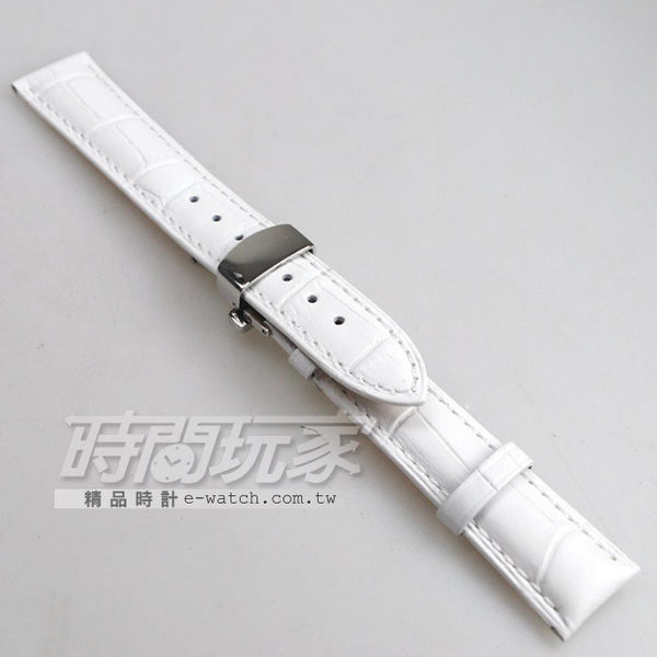 18mm錶帶 真皮錶帶 RE白竹18 + 蝴蝶扣雙按16