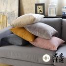 單個 素色抱枕套沙發靠墊套辦公室腰枕頭套不含芯【君來佳選】