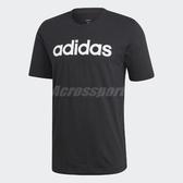 adidas T恤 Essentials Linear Logo Tee 短T 男款 字母T 短袖上衣 【ACS】 DU0404