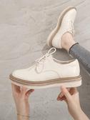 布洛克鞋ins小皮鞋女秋季韓版百搭ulzzang英倫風女鞋原宿平底單鞋   艾維朵