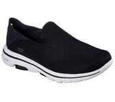 Skechers Go Walk 5 - Jetter [55523BKW] 男鞋 健走 休閒 懶人 舒適 穿搭 黑白