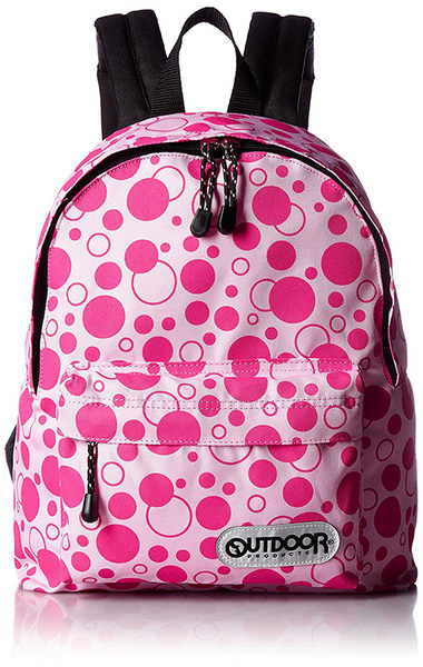 【日本代購】Outdoor Products 超輕量繽紛多彩後背包(小)-粉紅點