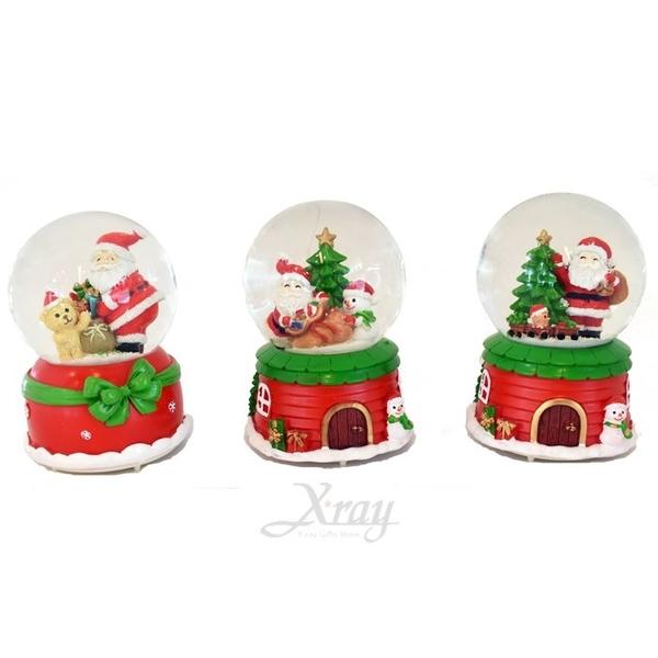 節慶王【X059271】300元聖誕音樂水球綜合下標(不挑款-隨機出貨),水球/雪球/水晶球