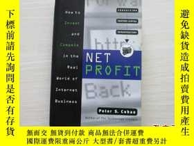 二手書博民逛書店NET罕見PROFIT How to Invest and Co