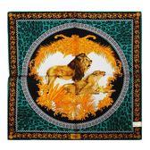 VERSACE 凡賽斯 古典藝術華麗獅子帕巾(綠色)989017-26