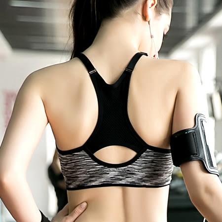 螢光混色細肩無鋼圈運動內衣 可調整式肩帶 附可拆式胸墊 半截式運動背心 挖背 美背 bra top