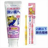 【日本SUNSTAR】巧虎兒童牙膏-葡萄(70gX3入)+牙刷(2歲以下)*6