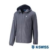 K-SWISS Solid Windbreaker F1刷毛風衣外套-男-灰