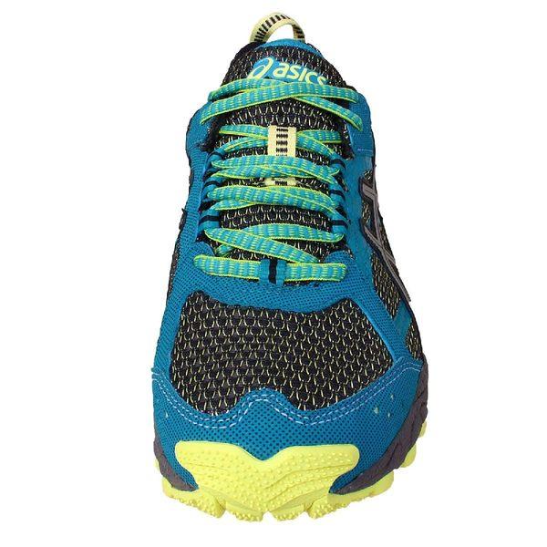 【NG出清】Asics 慢跑鞋 Gel-trail Lahar 5 GTX 越野 防水 綠 銀 女鞋 大小腳(左腳25右腳24.5)【PUMP306】