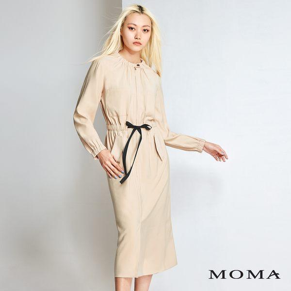 MOMA 休閒綁帶長洋裝