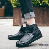 時尚男士雨鞋短筒防滑防水鞋工作膠鞋水靴雨靴【時尚大衣櫥】