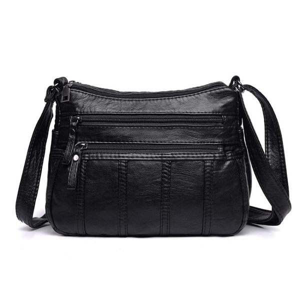 中老年人女包包新款大容量側背斜背包女士背包中年媽媽軟皮包 聖誕免運