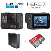 GoPro HERO7 BLACK 全方位攝影機 (台閔公司貨) 送64G+原廠電池