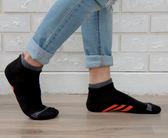 (男襪) 抗菌襪 除臭襪 吸濕排汗除臭襪 抗菌機能氣墊短襪 - 黑色【W093-02】Nacaco