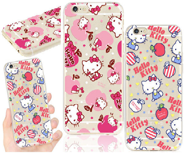 King*Shop~正品 APPLE iPhone 6 (4.7吋)三麗鷗HELLO KITTY軟殼彩繪透明殼手機殼手機套保護殼保護套