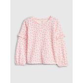 Gap女幼童漸變風格荷葉邊飾上衣519125-粉色花朵圖案