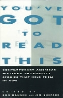 二手書You ve Got to Read This: Contemporary American Writers Introduce Stories that Held Them in Awe R2Y 0060982020