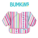 美國Bumkins 小童長袖防水圍兜 -彩色緞帶 BKSU-760