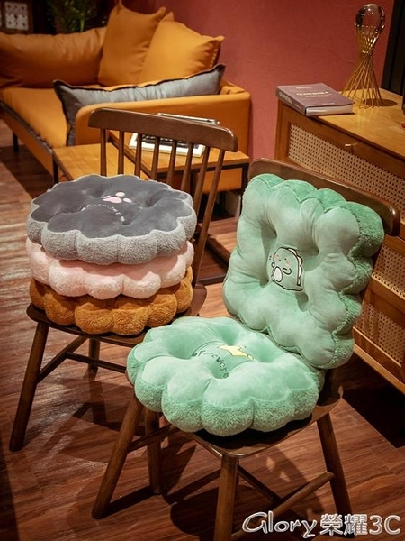 坐墊 坐墊辦公室椅子久坐板凳加厚座墊學生教室宿舍屁股墊可坐地上墊子LX  【新品】