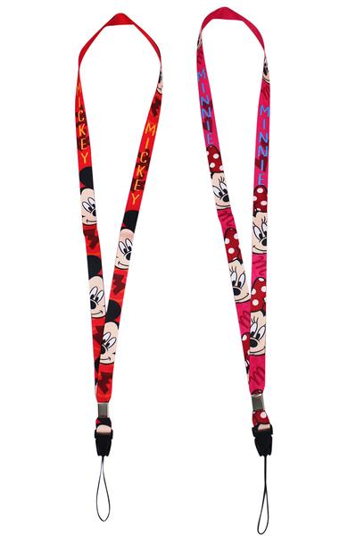 【卡漫城】 米奇 米妮 識別證掛繩 二入一組 ㊣版 手機 吊繩 Mickey Minnie 米老鼠 迪士尼 長吊繩