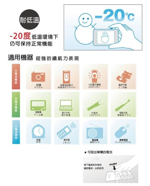 Fujitsu富士通 低自放電3號1900mAh鎳氫充電電池 HR-3UTC (3號4入)