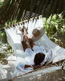 白色喇叭長袖襯衫海邊度假防曬鏤空性感比基尼罩衫罩衣外套沙灘裙 【PINKQ】