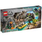 LEGO樂高 侏儸紀世界系列 75938 T. rex vs Dino-Mech Battle 積木 玩具