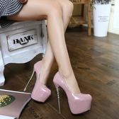 新款秋恨天高16cm超高跟鞋夜場細跟防水臺14情趣性感夜店女15  米蘭 shoe