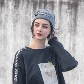DADA SUPREME 潮流釦環裝飾毛帽-灰-男女