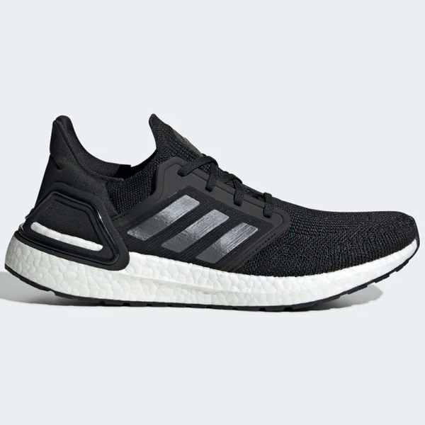 Adidas ULTRABOOST 20 男鞋 慢跑 襪套 避震 針織 透氣 輕量 黑 白【運動世界】 EF1043
