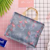 飯盒包手提包便當手提包防水女飯盒袋帶飯包帆布保溫袋子加厚鋁箔