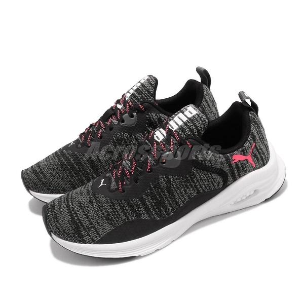Puma 慢跑鞋 Hybrid Fuego Knit Wns 黑 粉紅 女鞋 運動鞋 【ACS】 19295704