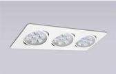 【燈王的店】LED 9Wx3 聚光 方型 崁燈  白框 暖白光 4000K ☆ TYL534