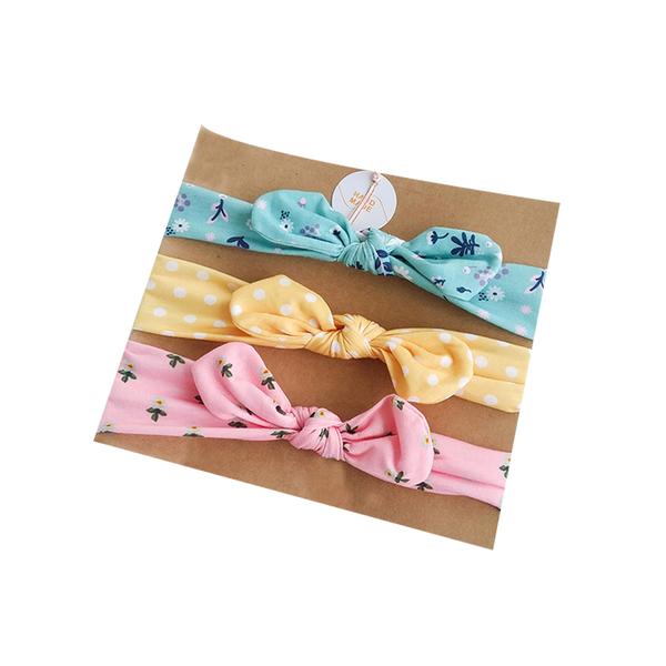 寶寶髮飾組 三條髮帶入 嬰兒蝴蝶結發帶頭飾 女寶寶純棉布藝發飾 兒童頭花新生兒發箍 88186