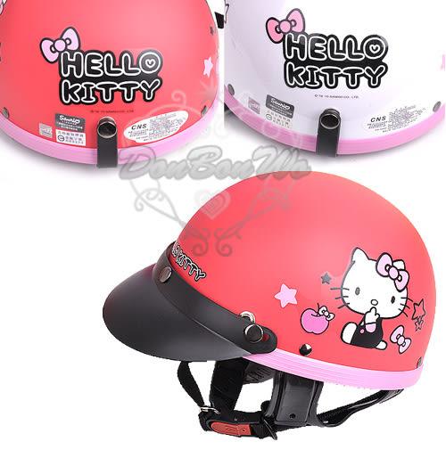 kitty西瓜皮機車騎士安全帽全罩式蘋果星成人062411兒童062412通販屋