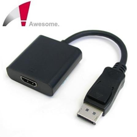 【超人百貨K】Awesome DP公 to HDMI母 轉接器 台灣製造,終身保固 CE/FCC認證並符合RoHS