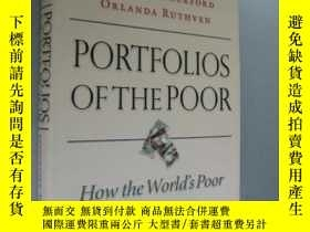 二手書博民逛書店PORTFOLIOS罕見OF THE POOR 國際貧困報告Y8