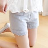 安全褲   純棉韓版可外穿打底褲薄款短褲蕾絲防走光春夏保險三分褲 此商品不接受退貨或退換