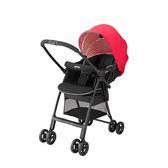 【送貝恩嬰兒柔濕巾一箱】Aprica 愛普力卡 Karoon Air RD輕量平躺型雙向嬰兒車 馬德里瑞德-紅