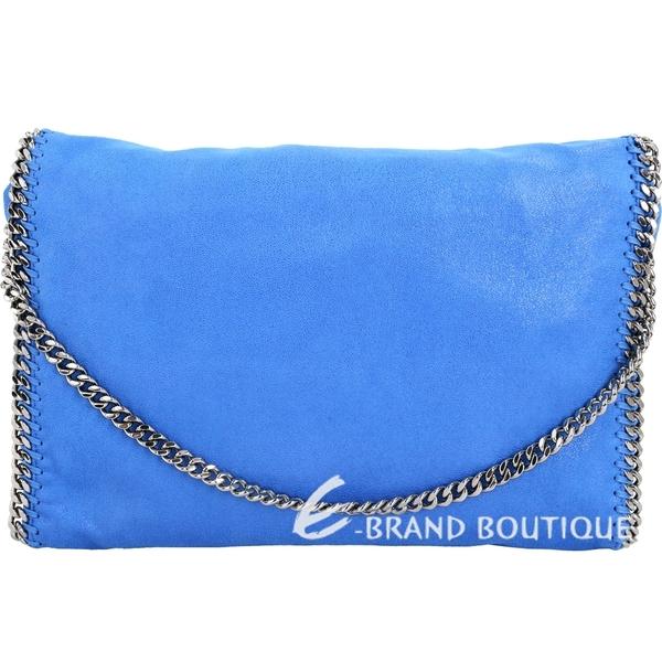 Stella McCartney Falabella Shaggy 鍊帶兩用包(藍色) 1711116-23