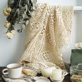 手工鉤針桌布鏤空蕾絲蓋布窗簾美式鄉村小桌布森繫甜品臺桌布 夏洛特