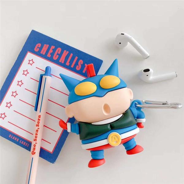 Airpods Pro 專用 1/2代 台灣發貨 [ 蠟筆小新動感超人 ] 藍芽耳機保護套 蘋果無線耳機保護