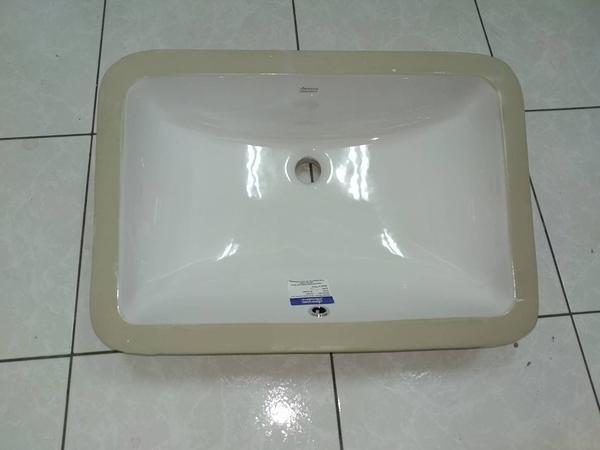 【麗室衛浴】 American Standard 美標方型下坎盆WP- 0440客戶升級托售 只有1只全新